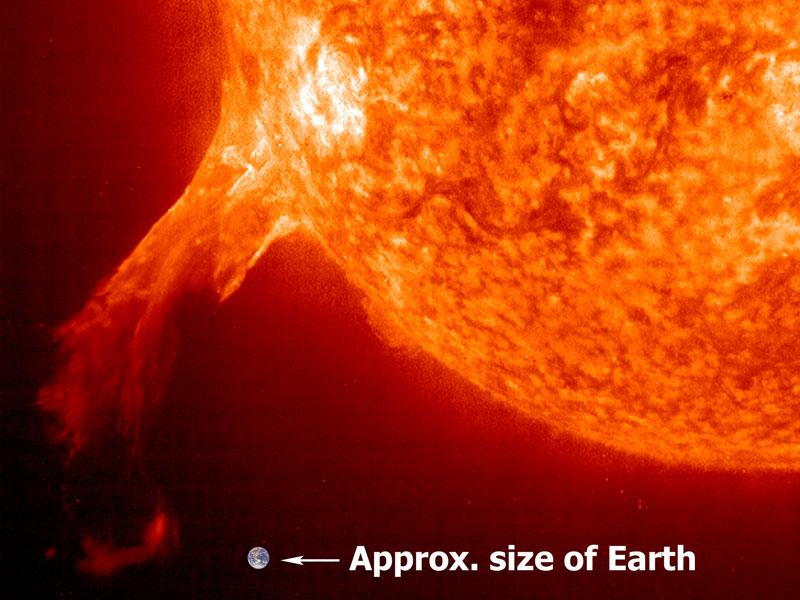 La erupción de una protuberancia solar vista por el SOHO