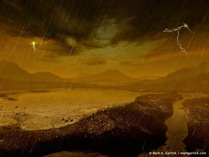 Posibles lluvias de metano en Titán