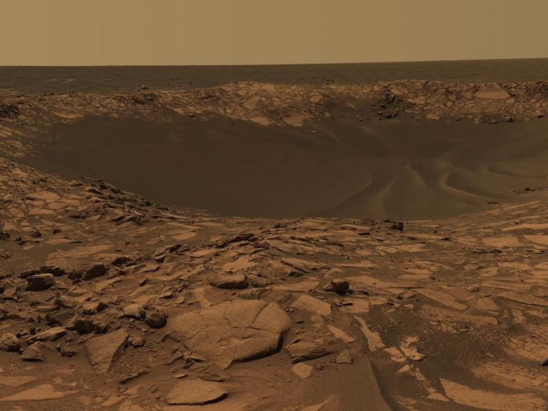 El cráter Beagle en Marte