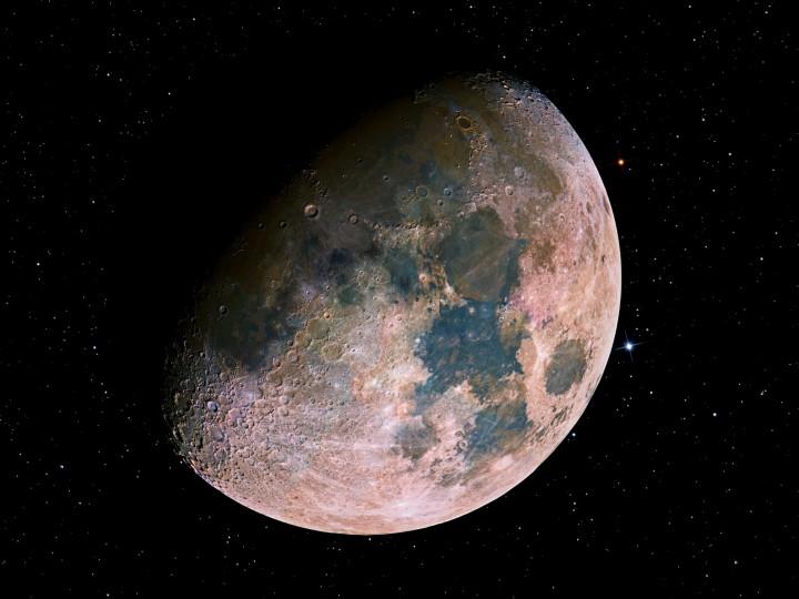 Un Colorista Mosaico de la Luna