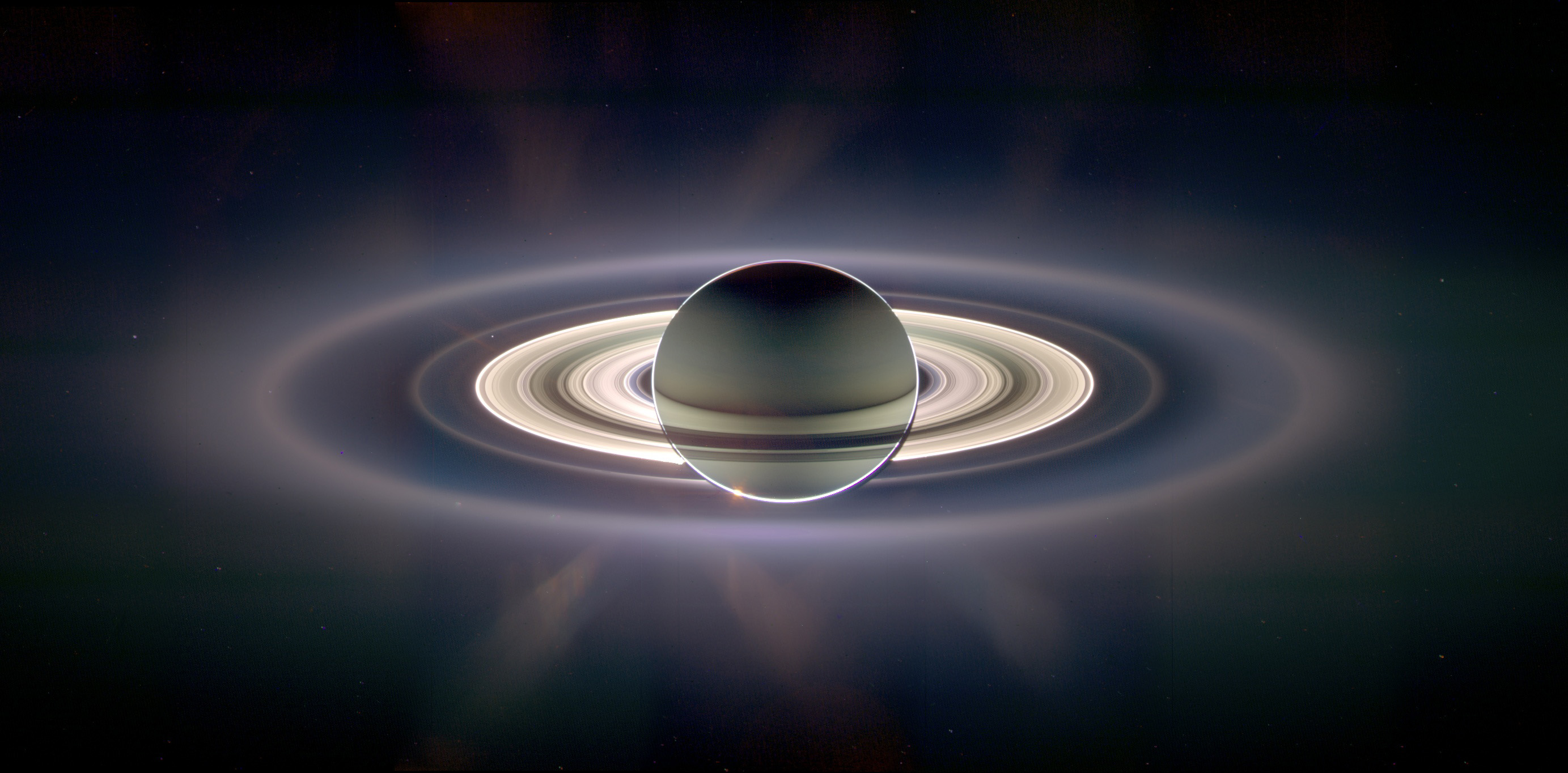 Cassini Snaps Stunning Saturn Eclipsing the Sun Picture