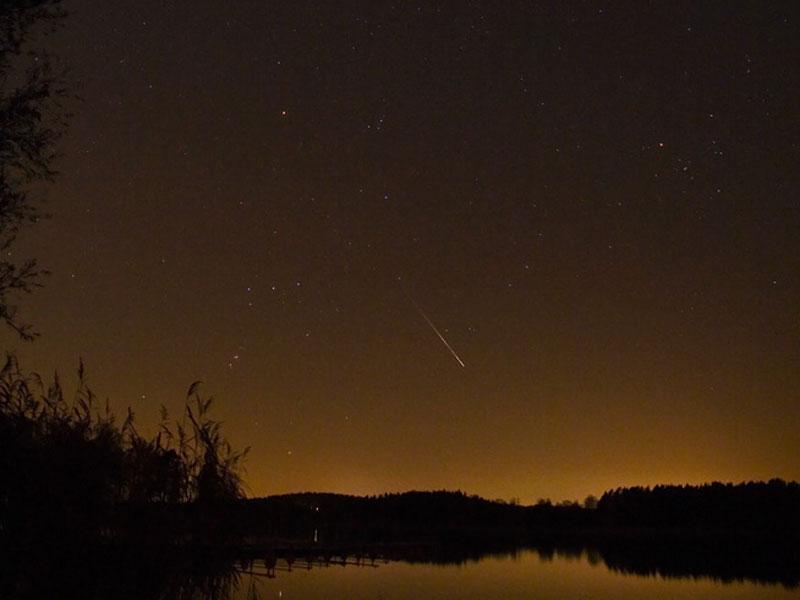 Un meteoro de las Leónidas sobre Suecia