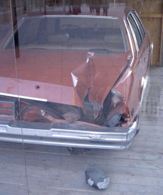 El coche, el agujero, y el Meteorito de Peekskill