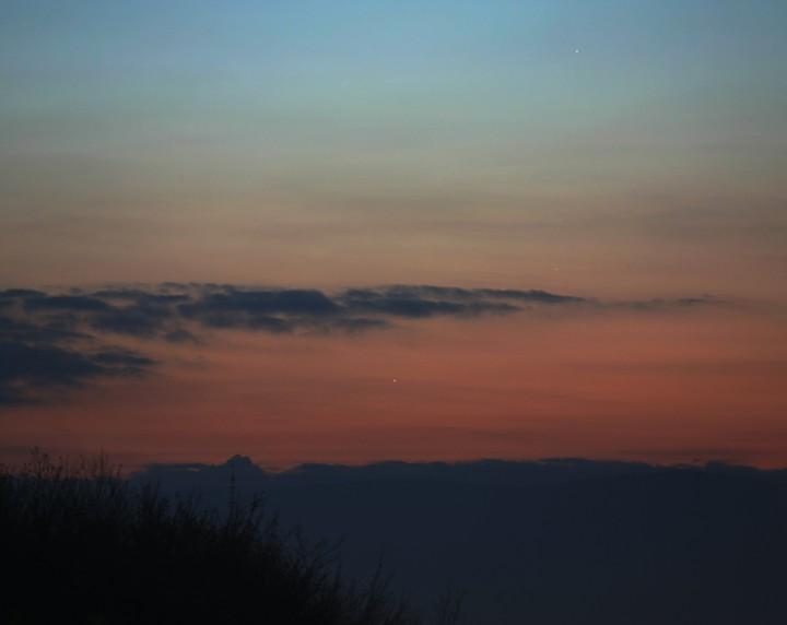 Tres planetas en el horizonte