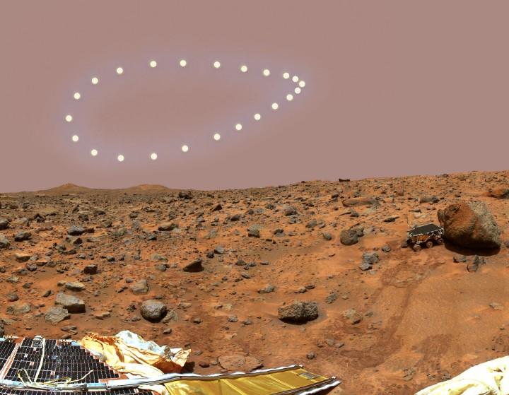 Soleil à midi sur Mars