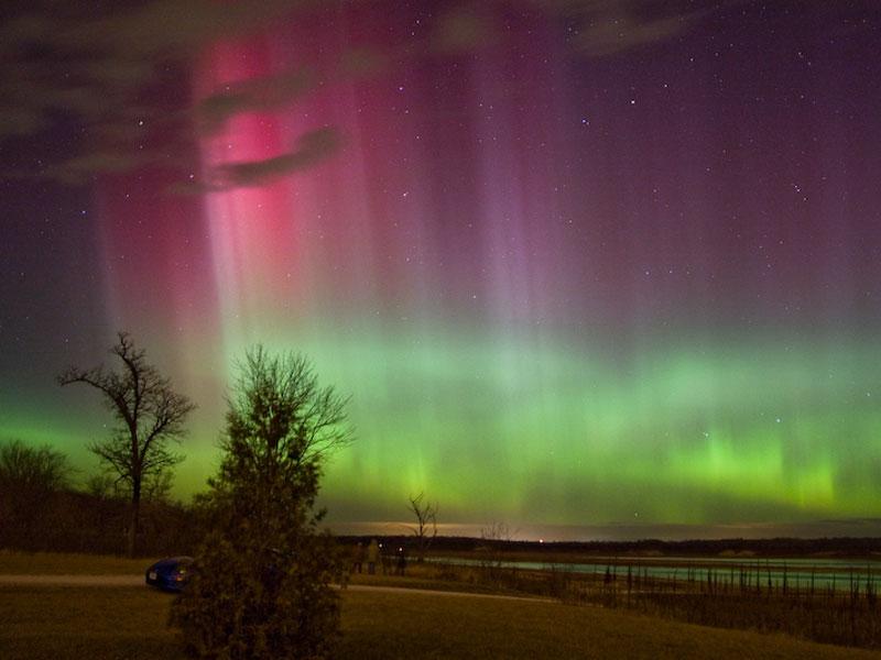 Aurora sobre Iowa