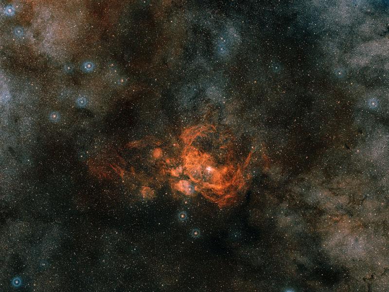 Formación de estrellas en la región NGC 6357