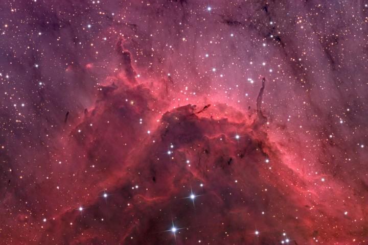 IC 5067: Primer plano de una nebulosa de emisión