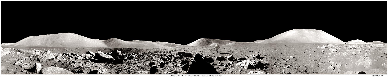 Apolo 17 Panorámica: Astronauta corriendo