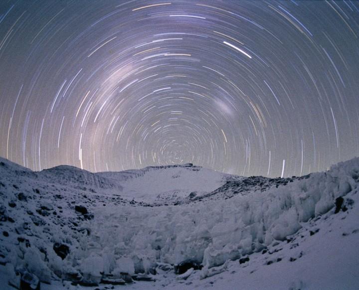 Rastro de estrellas a 19.000 pies