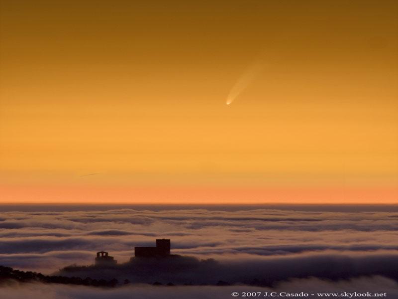 Comet McNaught sobre Cataluña