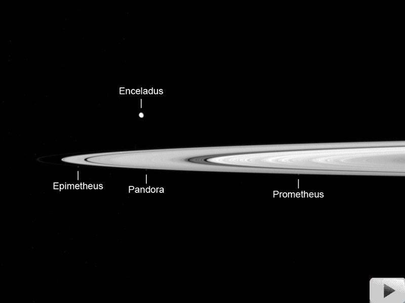 Película: Cassini Cruza el Plano de los Anillos de Saturno