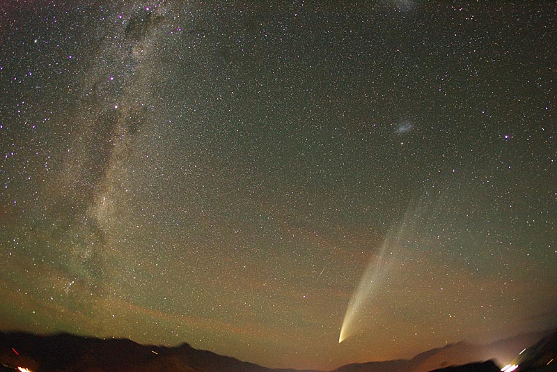 Cometa McNaught Sobre Nueva Zelanda