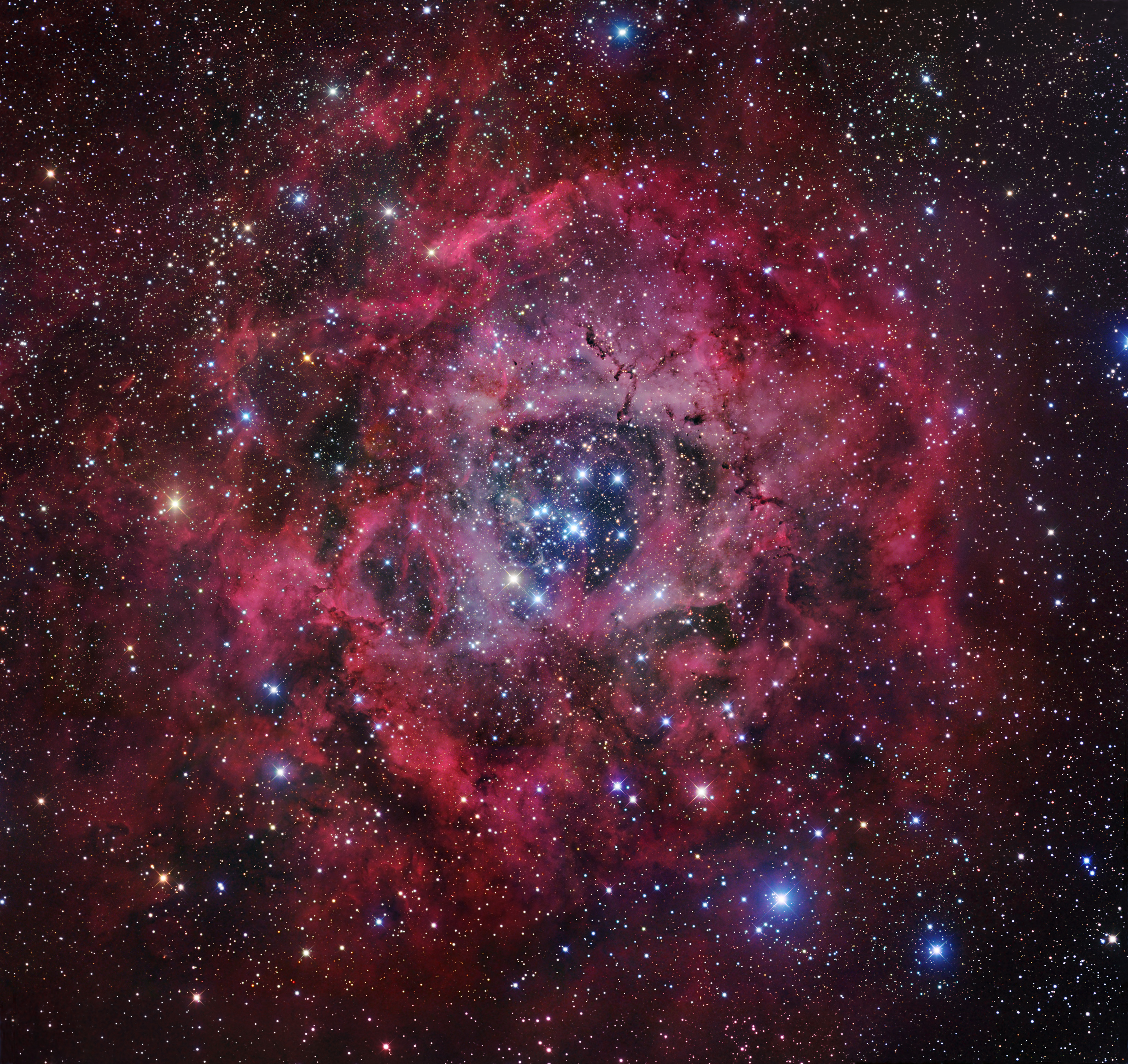 Apod 2007 february 14 the rosette nebula for Nebula material