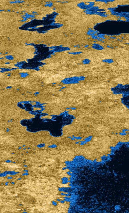Lagos líquidos en Titán