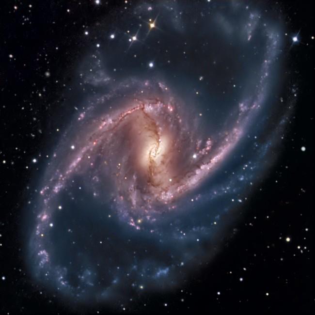 NGC 1365: Majestuoso Universo Isla