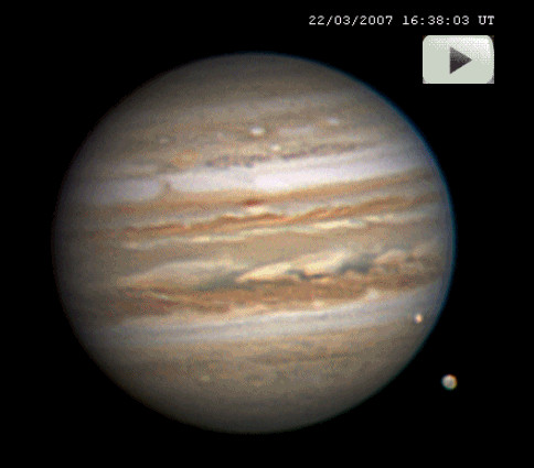 APOD: 2007 March 29 - Jupiter Moon Movie