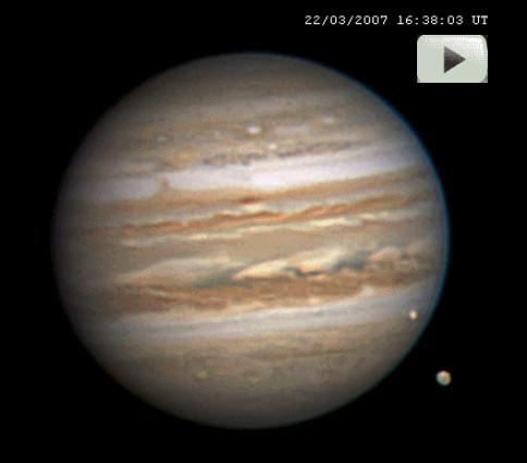 Las lunas de Júpiter en movimiento