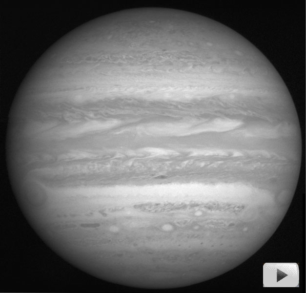 Sledujte rotaci Jupiteru