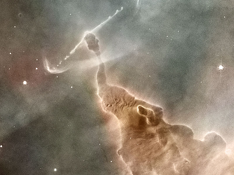 La columna de polvo de la Nebulosa Carina