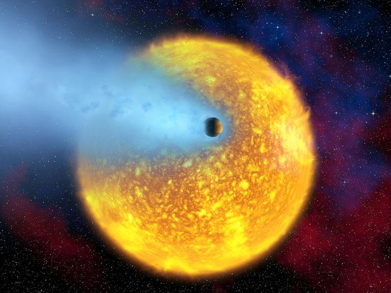 Posible hallazgo de agua en el planeta en evaporación HD 209458b