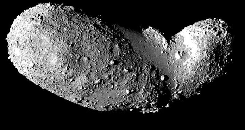 Secciones lisas del asteroide Itokawa