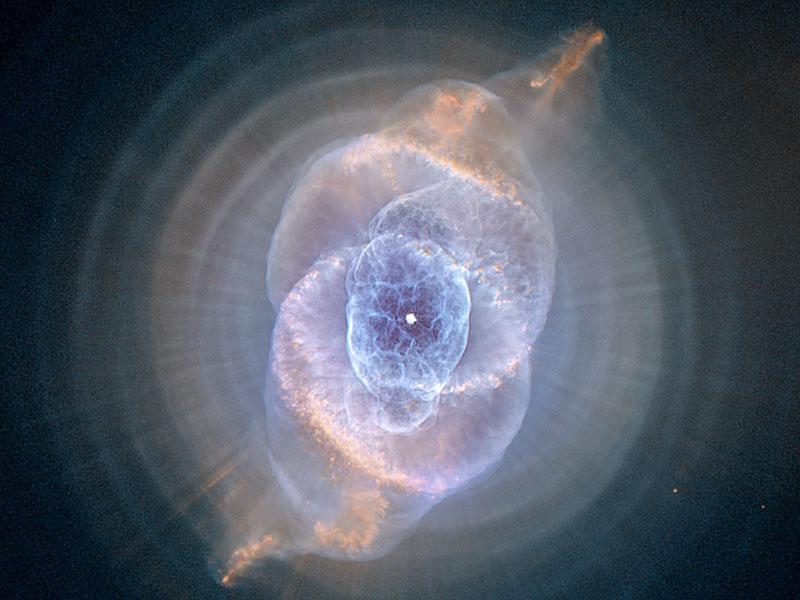 La nebulosa Ojo de Gato desde el Hubble
