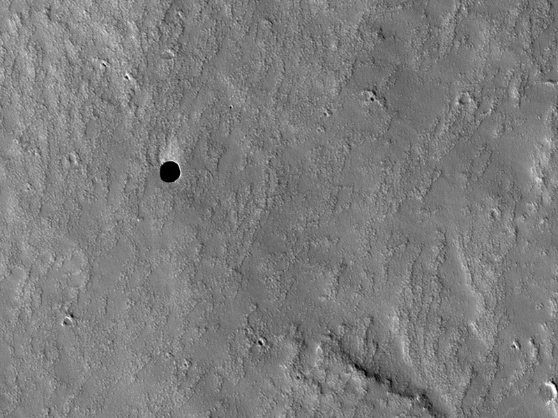 Un agujero en Marte