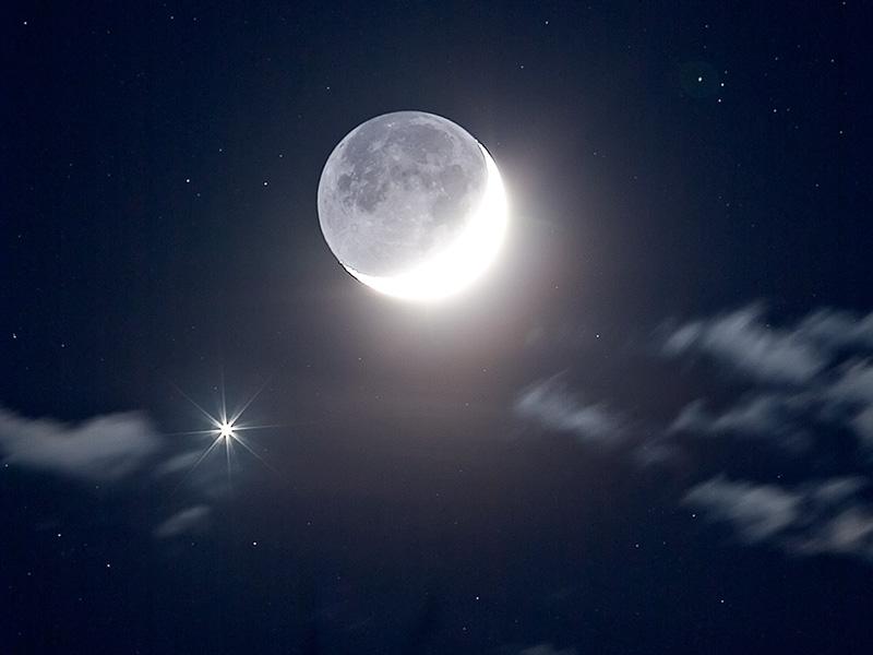 Venus cerca de la Luna