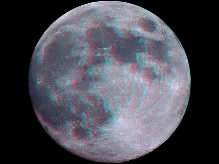 3D Full Moon. Credit & Copyright: Laurent Laveder (PixHeaven.net)