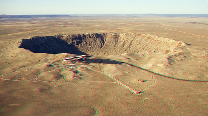 Meteorický kráter Barringer v 3D