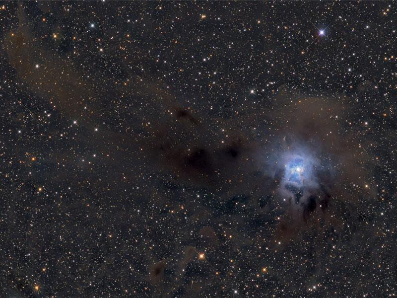 Mechones de la Nebulosa Iris