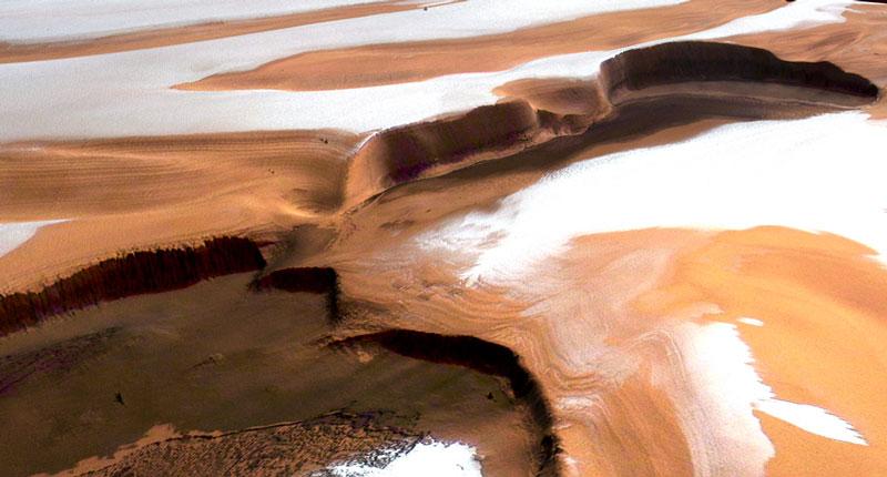 Empinados acantilados en Marte