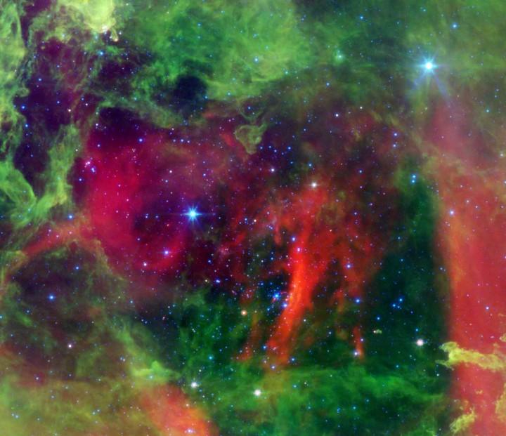 Estrellas calientes en la Nebulosa Roseta