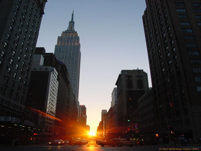 Manhattanhenge: Una puesta de Sol neoyorquina