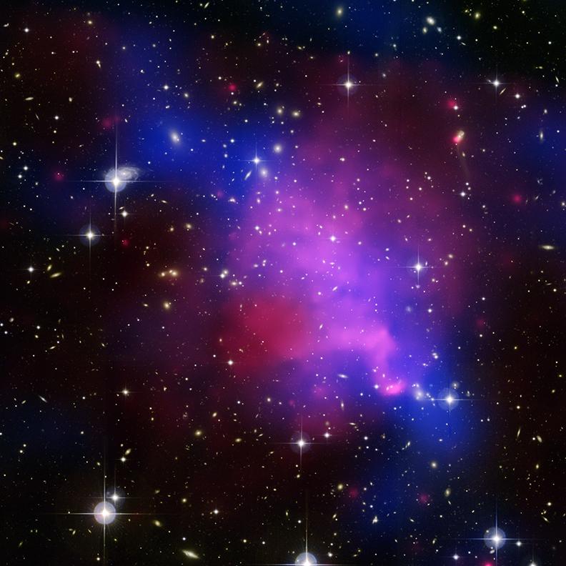 composite cluster image - dark matter