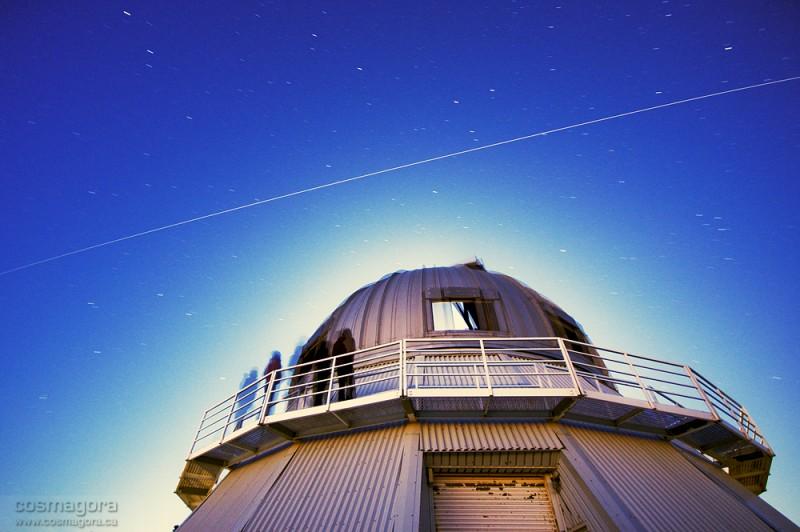 La ISS sobre el Observatorio Mont-Megantic