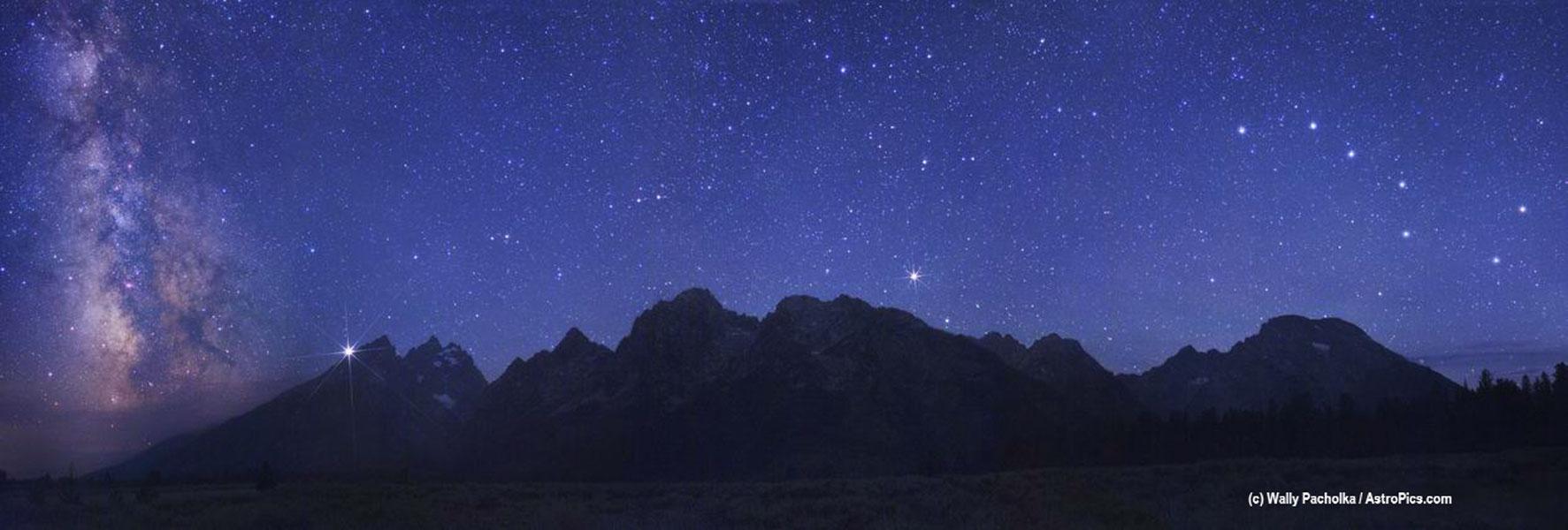 Un espectacular cielo sobre Grand Tetons