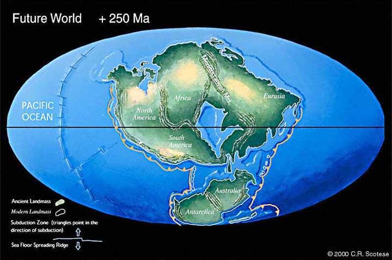 APOD: 2007 September 22 - Pangea Ultima: Earth in 250 ...