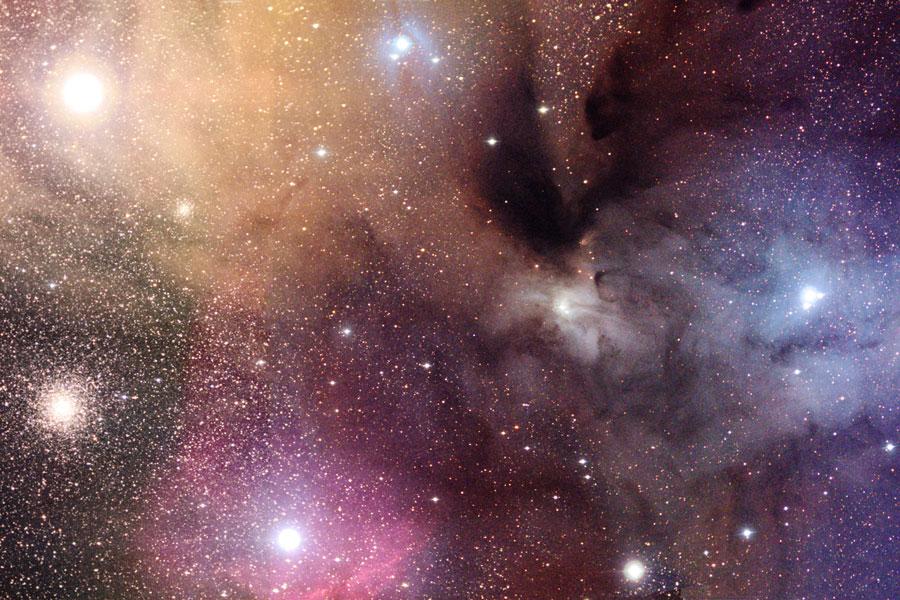 Las coloridas nubes de Rho Ophiuchi