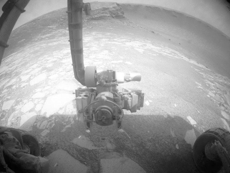 Dentro del cráter Victoria en Marte