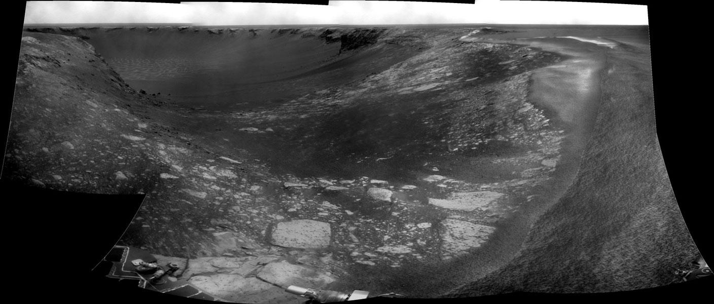 Camino hacia el Cráter Victoria en Marte