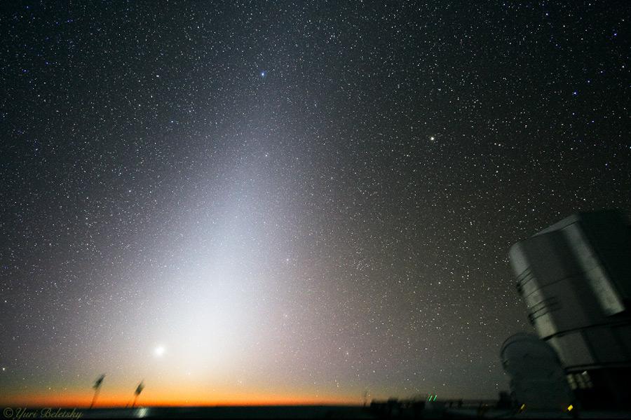 Luz zodiacal y el falso amanecer