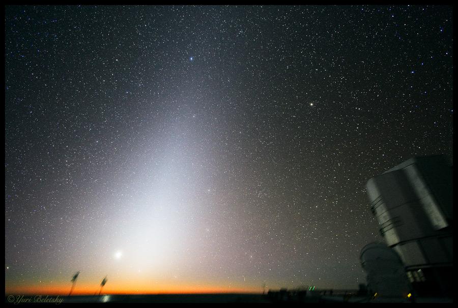 Lumière zodiacale, Y.Beletsky (ESO)