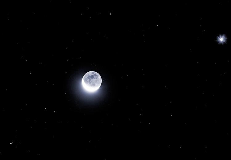 Planetas brillantes, menguante lunar