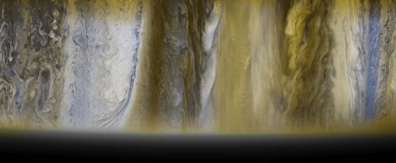 Las nubes de Júpiter desde la New Horizons