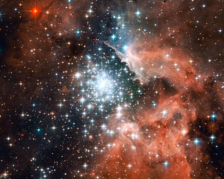 Cúmulo de estrellas en formación en NGC 3603