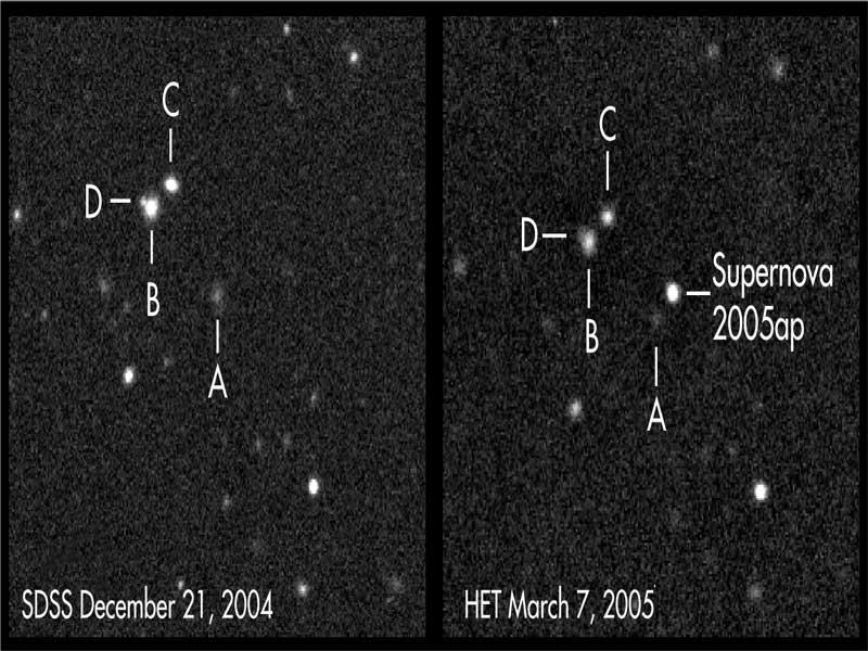 SN 2005ap: la supernova más brillante encontrada hasta el momento