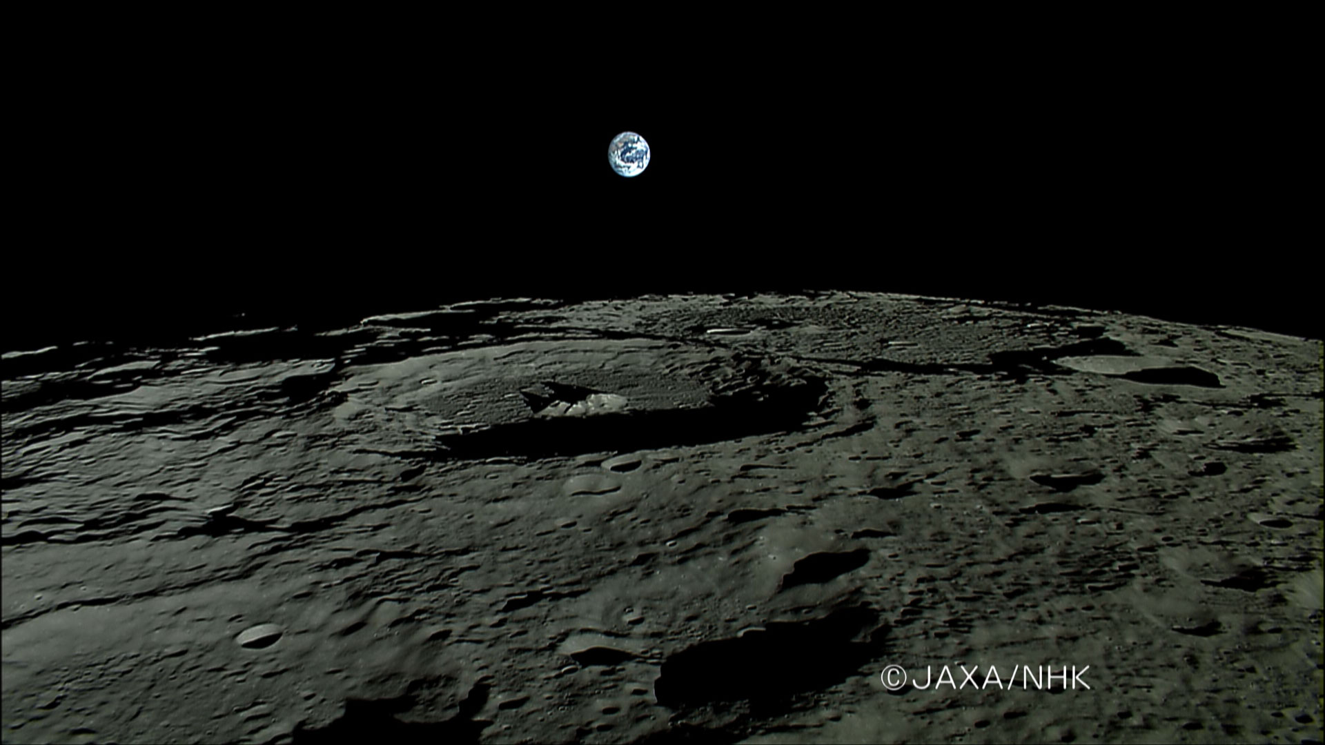 apod: 2007 november 20 - earthrise from moon-orbiting kaguya