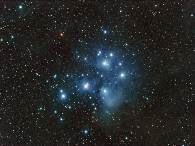 M45: El Cúmulo de estrellas de Las Pléiades